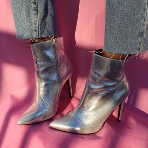 Metallic Space Boots